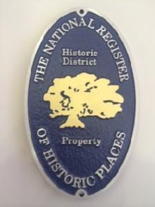 National Register plaque district